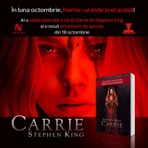 """Primul roman al lui Stephen King, """"Carrie"""", într-o nouă ecranizare"""