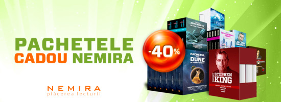40% reducere la pachete de cărţi Nemira