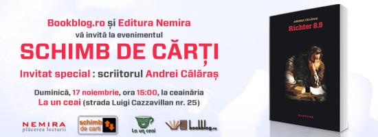 Scriitorul Andrei Călăraș, invitat la Schimb de Cărți București