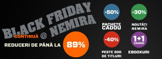 Black Friday continuă la Editura Nemira!