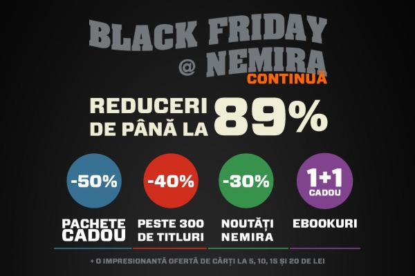 Ultima șansă! Black Friday continuă și astăzi!