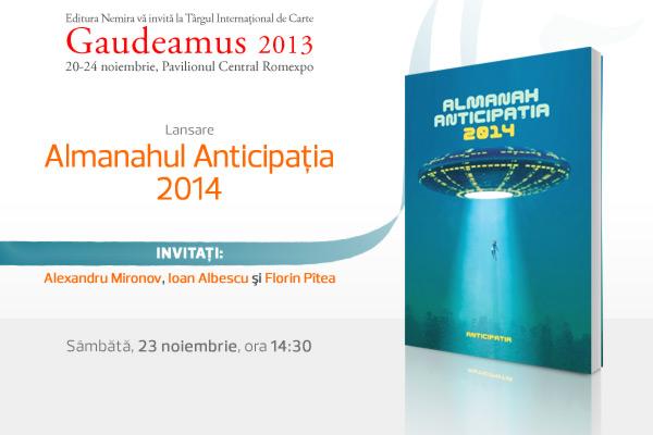 Lansare Almanahul Anticipaţia 2014 la Târgul Internaţional de Carte Gaudeamus 2013
