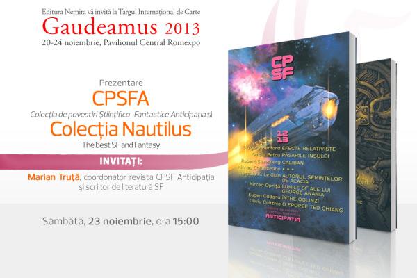 Revista CPSF Anticipaţia şi colecţia Nautilus prezentate la Târgul Gaudeamus 2013