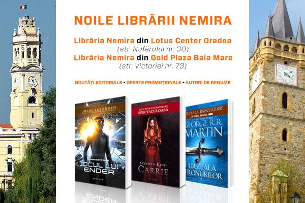 Librăriile Nemira – acum şi în Oradea şi Baia Mare