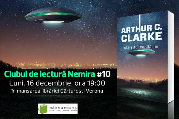 """""""Sfârşitul copilăriei"""" de Arthur C. Clarke – Cartea lunii decembrie la Clubul de lectură Nemira"""