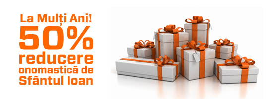 La mulți ani de Sfântul Ioan! Astăzi 50% din preț este cadou
