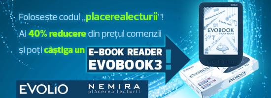 Concurs: câştigă un eReader Evobook 3 cu Nemira!