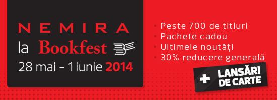 Recomandările Nemira pentru Bookfest 2014