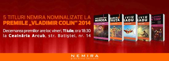 Cinci titluri Nemira nominalizate la Premiile Vladimir Colin 2014