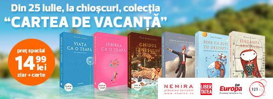 Pentru o vacanță sănătoasă se recomandă cărțile Nemira