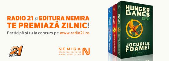 Câştigă trilogia Jocurile Foamei oferită de Nemira şi Radio 21!