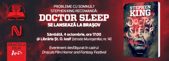 În atenţia fanilor Stephen King: romanul Doctor Sleep se lansează la Braşov!