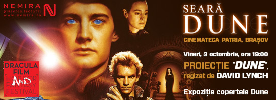 Delicatese vizuale: copertele seriilor Dune sunt expuse în această seară la Cinemateca Patria din Braşov