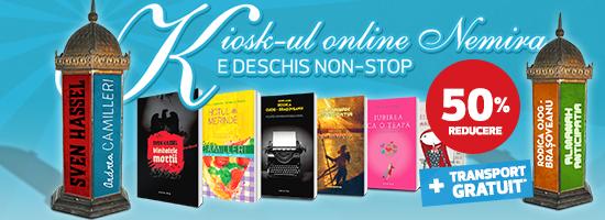 Din real în virtual: cărţile Nemira de la chioşcurile de presă vin pe nemira.ro!