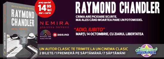 Un autor clasic te trimite la un cinema clasic: seria Raymond Chandler vine  la chioşcurile de presă!