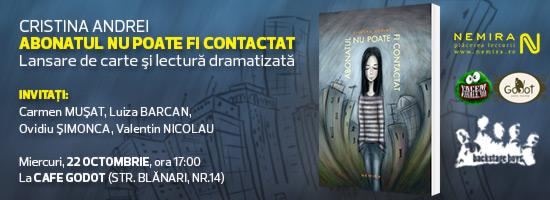 """""""Abonatul nu poate fi contactat"""" decât pe 22 octombrie, la Cafe Godot"""