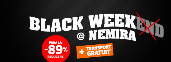 Pe nemira.ro, Black Weekend continuă cu Black Week! Liber la cumpărături toată săptămâna!