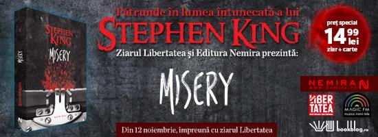 Campania Stephen King îşi intră în drepturi: Misery apare mâine la chioşcurile de presă!