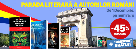 Spectacolul autorilor români începe de 1 decembrie pe nemira.ro!