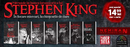 Şah-mat cu regele: seria Stephen King iese la chioşcurile de presă!