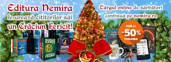 Moş Crăciun a decis: cititorii Nemira sunt cei mai cuminţi, deci primesc cele mai multe cadouri!
