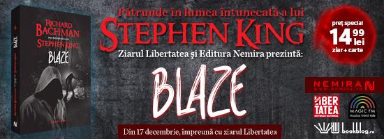 La Stephen King, flăcările iadului ard veşnic. Mai ales în romanul Blaze