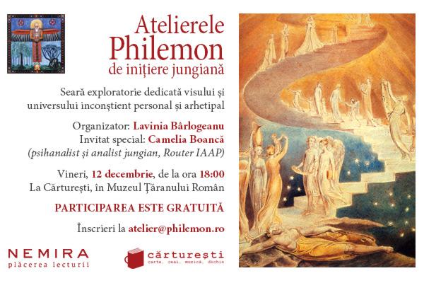 Al doilea atelier Philemon de explorare a viselor are ca temă inconştientul personal şi arhetipal