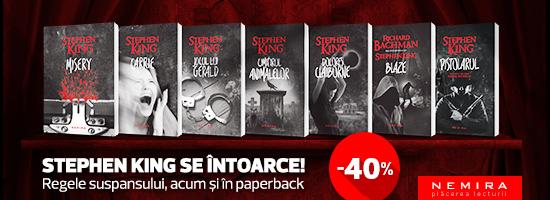 Titlurile Stephen King de la chioşcurile de presă, acum pe nemira.ro!