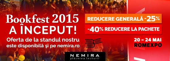 Nemira vine cu o SUPER-REDUCERE GENERALĂ la Bookfest 2015 şi pe nemira.ro!