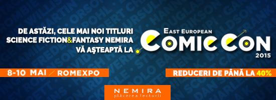 Cele mai noi titluri SF&F de la Nemira sunt la Comic Con!