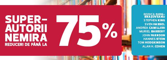 Super-autori la super-promoţie! King, Chandler, Camilleri şi Braşoveanu au până la 75% reducere!