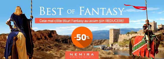 Cele mai citite titluri Fantasy, acum la promoţie pe nemira.ro!