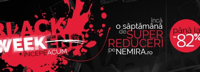 Black Week a început pe nemira.ro: iată super-reducerile pe care nu poţi să le ratezi!