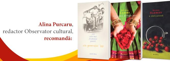 Cadouri pe ultima sută de metri: Alina Purcaru de la Observator Cultural îţi recomandă trei titluri Nemira