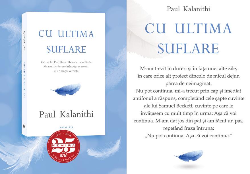 paul kalanithi cu ultima suflare - editura nemira