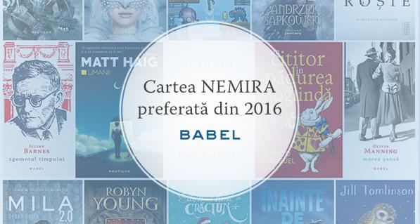 Cartea Babel preferată din 2016!