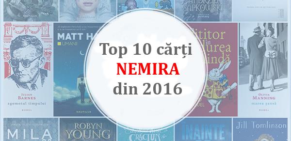 Top 10 cărți Nemira alese de cititori în 2016