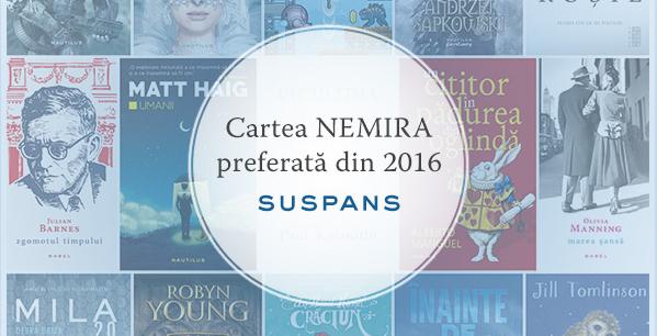 Cartea Suspans preferată din 2016