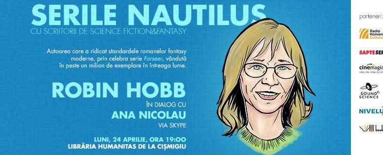 Celebra scriitoare fantasy Robin Hobb este invitată prin skype la Serile Nautilus