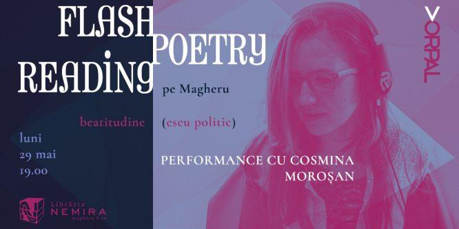 Flash poetry reading pe Magheru: Cosmina Moroşan