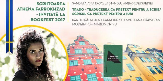 Athena Farrokhzad la București – invitată la Bookfest 2017
