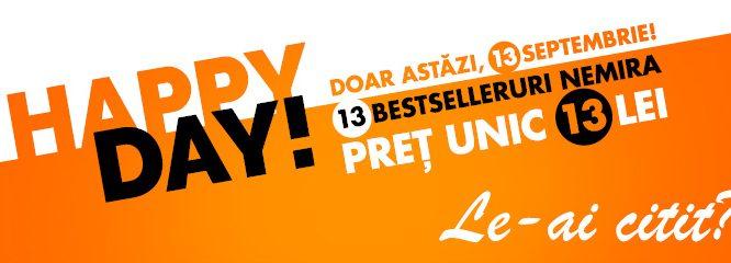 Doar AZI, 13 septembrie: 13 cărți la 13 lei