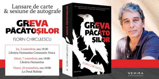 """Turneu de lansare a romanului """"Greva păcătoșilor sau apocrifa unui evreu"""", de Florin Chirculescu"""