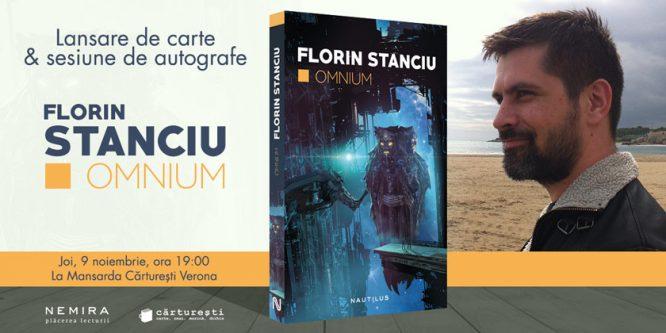 Omnium, romanul de debut al geneticianului Florin Stanciu, se lansează joi la Cărturești Verona