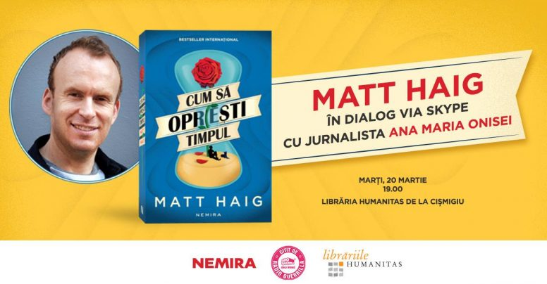 """Bestsellerul internațional """"Cum să oprești timpul"""" are BOOK TRAILER!"""