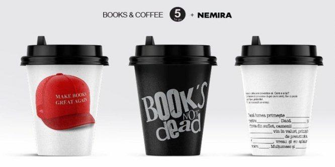 45.000 de pahare din cafenelele 5 To Go promovează plăcerea lecturii de Ziua Cărții