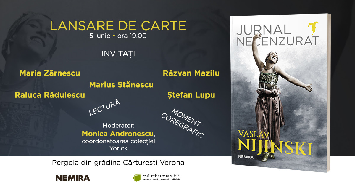 O lansare-eveniment: Jurnalul necenzurat al lui Vaslav Nijinski