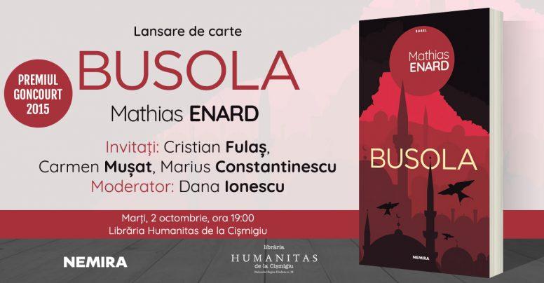 Romanul premiat cu Goncourt, Busola, de Mathias Enard, se lansează pe 2 octombrie