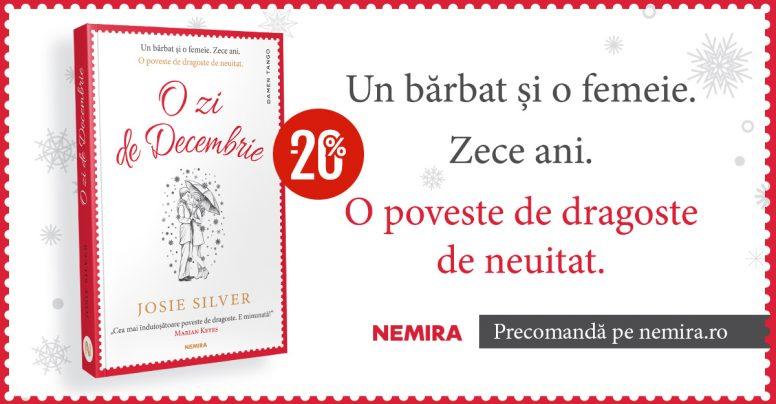 O zi de decembrie, de Josie Silver, se anunță bestsellerul finalului de an!