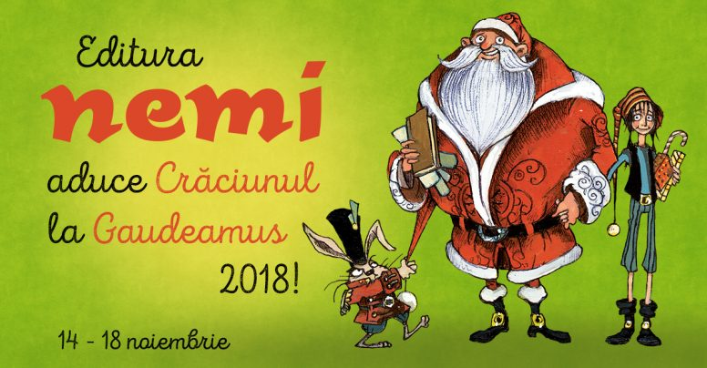 Editura Nemi pentru copii aduce Crăciunul la Gaudeamus 2018